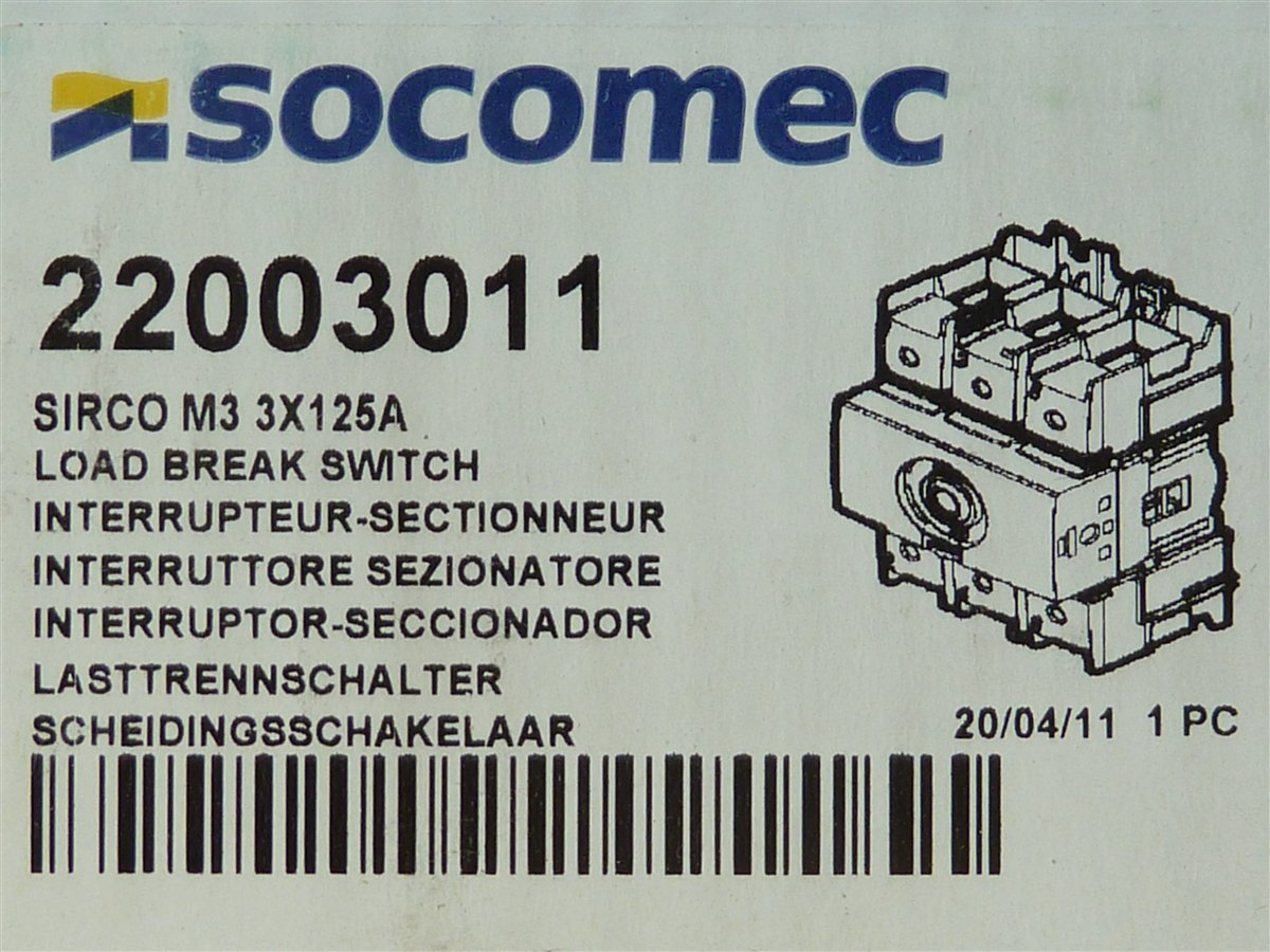 Socomec-Sirco-M3Lasttrennschalter-3x125A-22003011