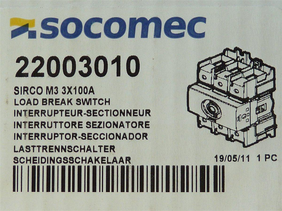 Socomec-Sirco-M3-Lasttrennschalter-3x100A-22003010
