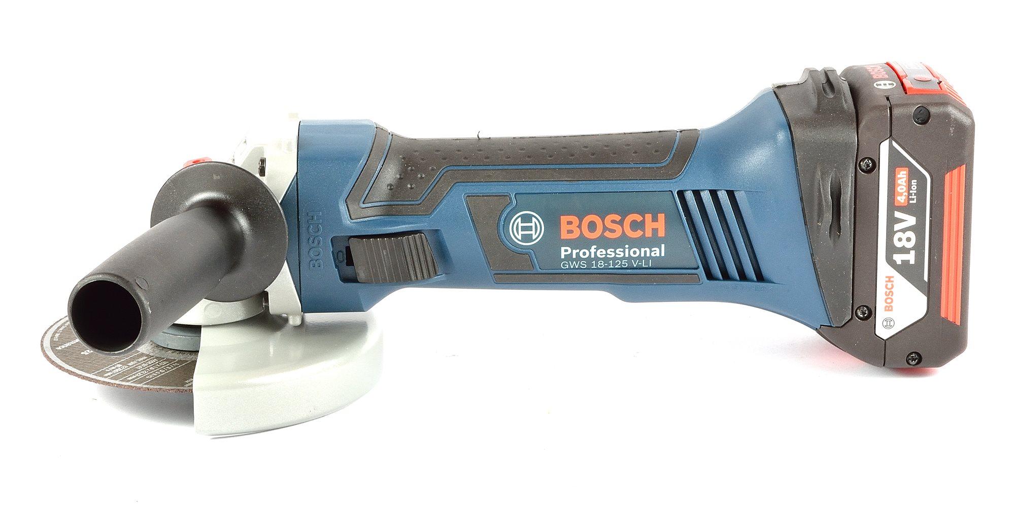 Smerigliatrice a batteria BOSCH professional GWS 18V-LI italiano