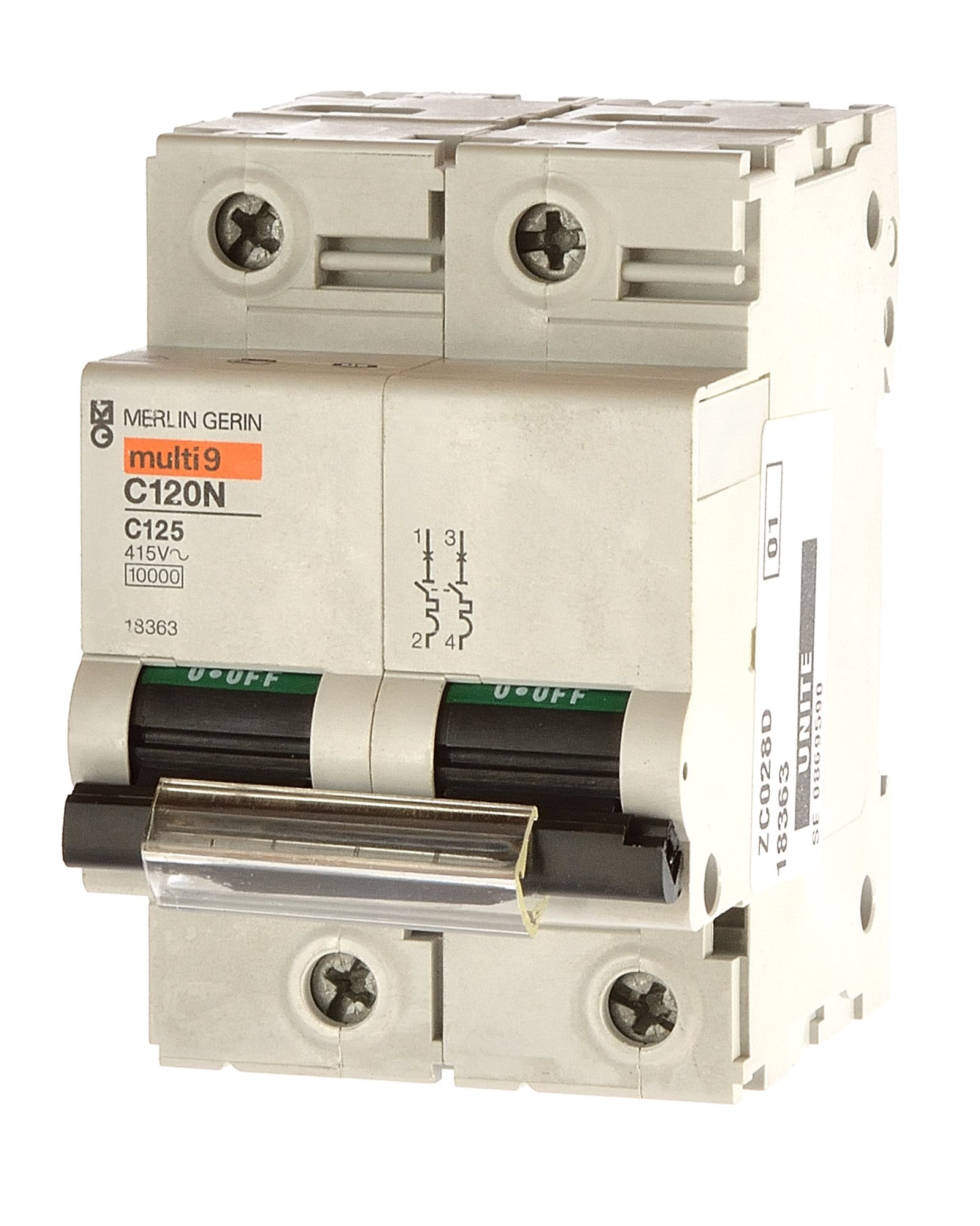 Merlin gerin multi9 c120n sicherungsautomat c125 125a 2 - Merlin gerin multi 9 ...