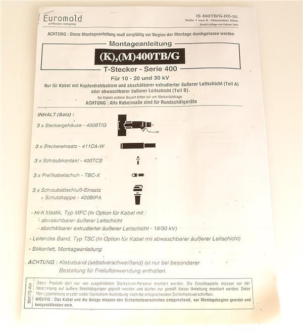 euromold t stecker serie 400 95mm ebay. Black Bedroom Furniture Sets. Home Design Ideas