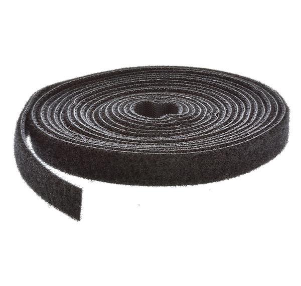 Flausch /& Haken zum Aufn/ähen schwarz 1m Klettband 16mm breit
