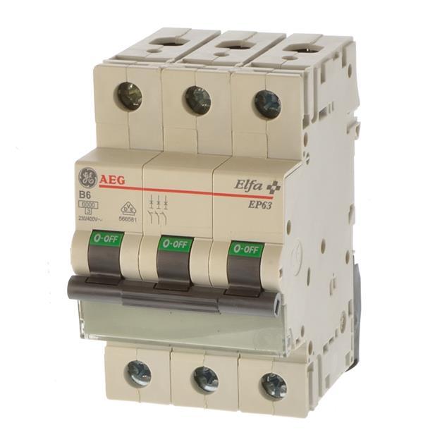 Sicherungsautomat AEG Elfa E83 C16 Leitungsschutzschalter LS-Schalter 16A 3p